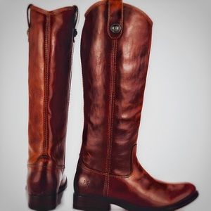 "Frye ""Melissa"" Button Lug Tall Boots"